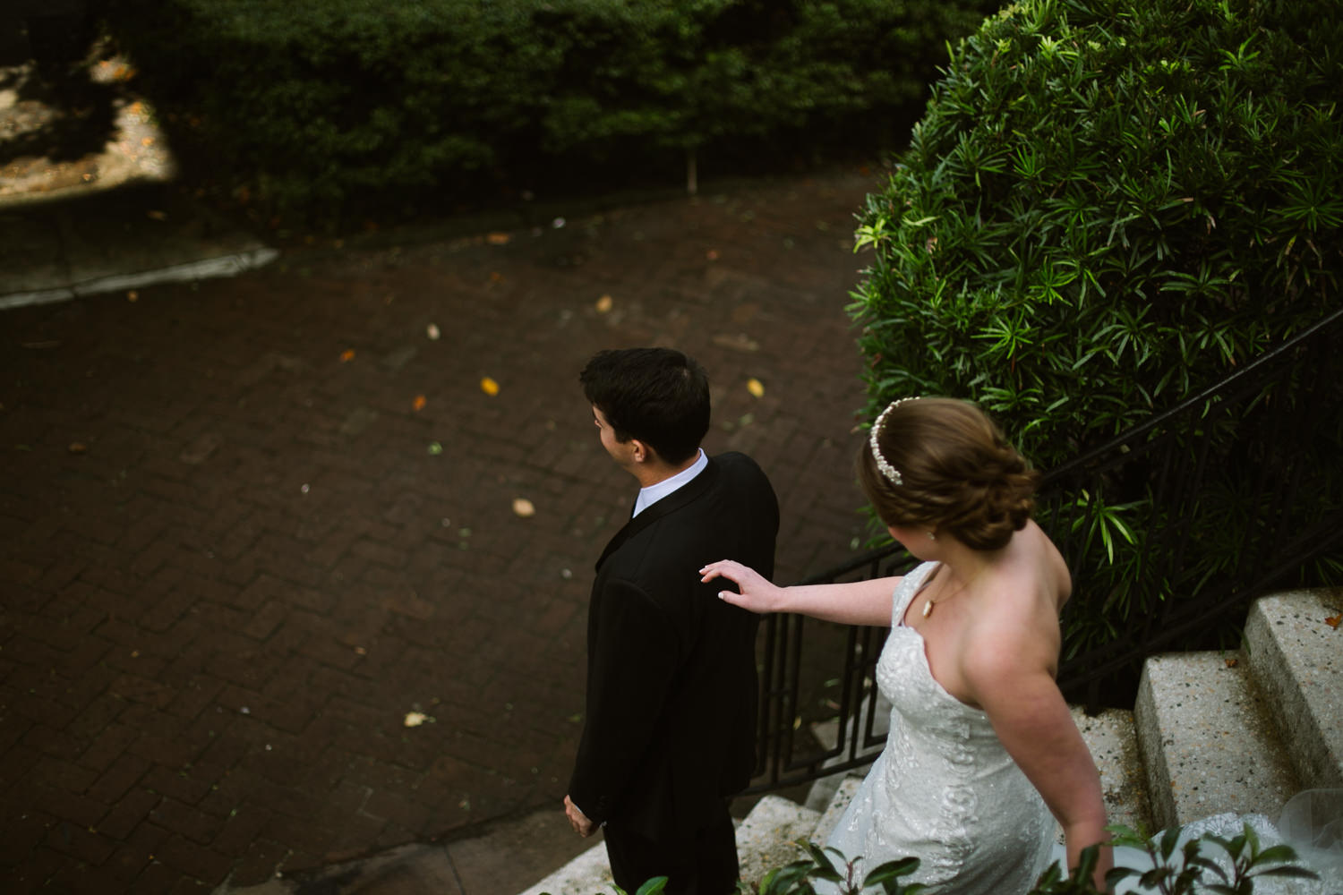 First look Savannah wedding