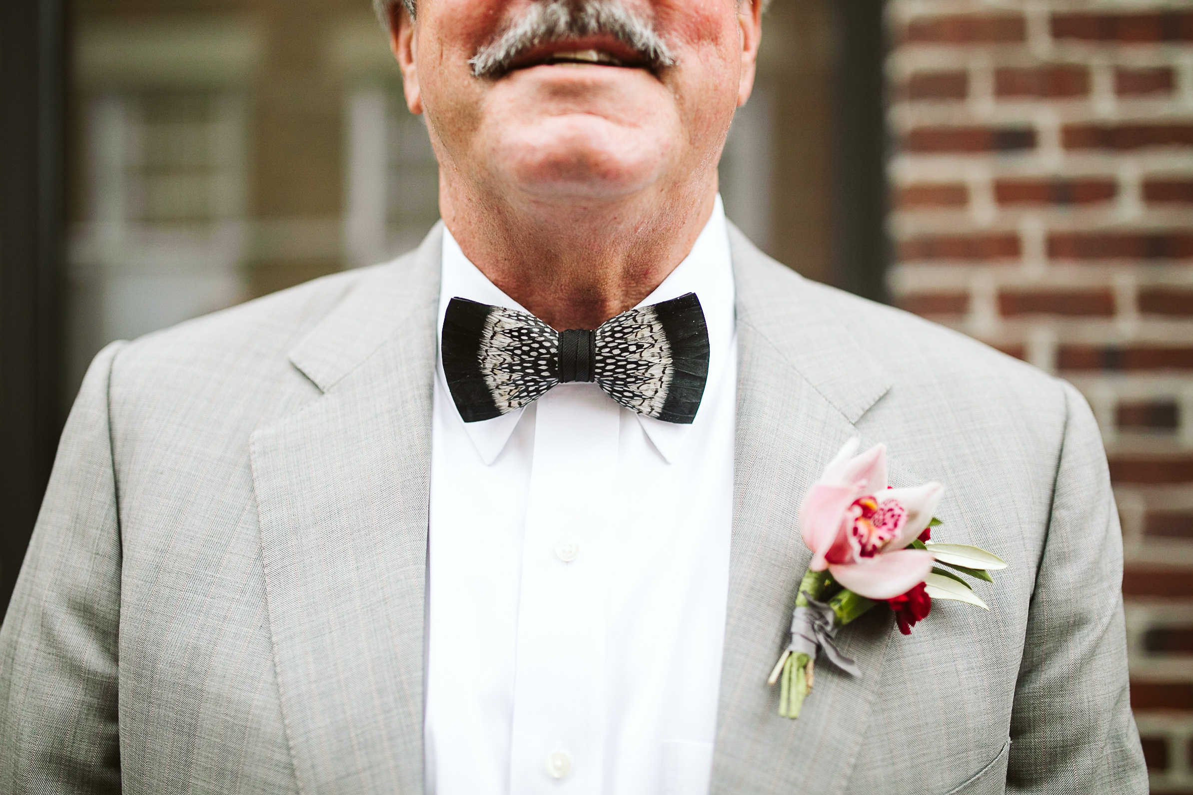 The father of the bride's details at this Battello Wedding in Jersey City, NJ