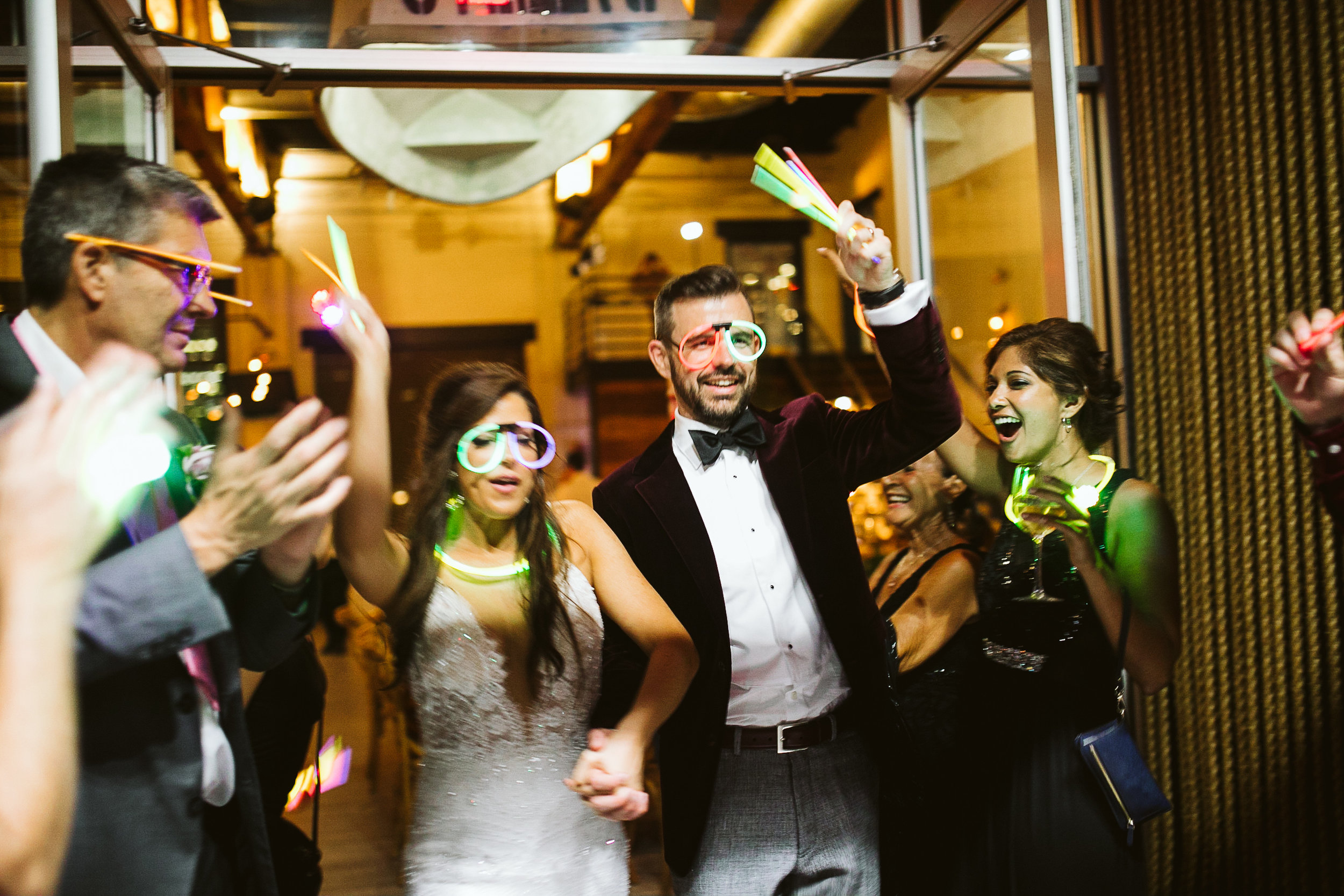 The bride and groom send-off at this Battello Wedding in Jersey City, NJ
