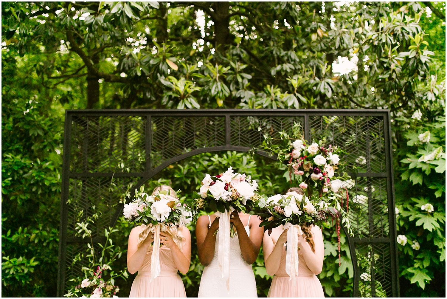bridesmaids at swan coach house