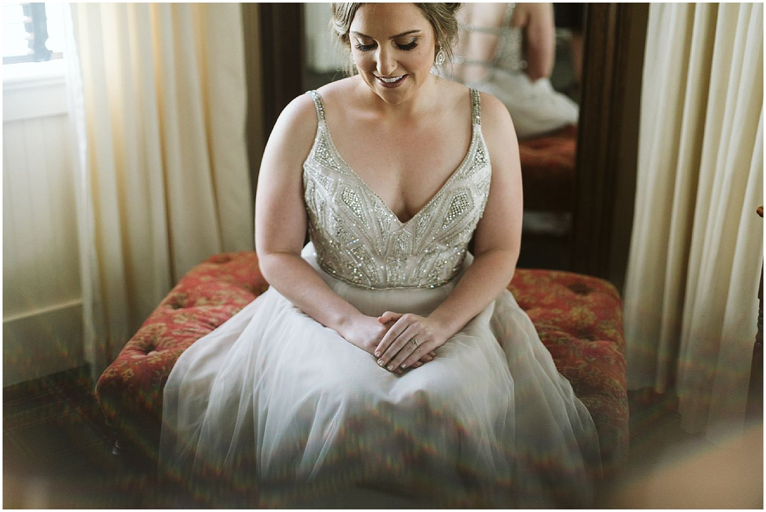 bride getting ready at RT lodge