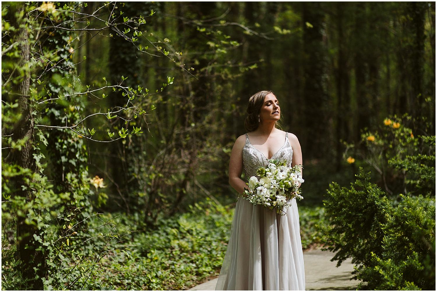 bride in the sunshine at RT lodge