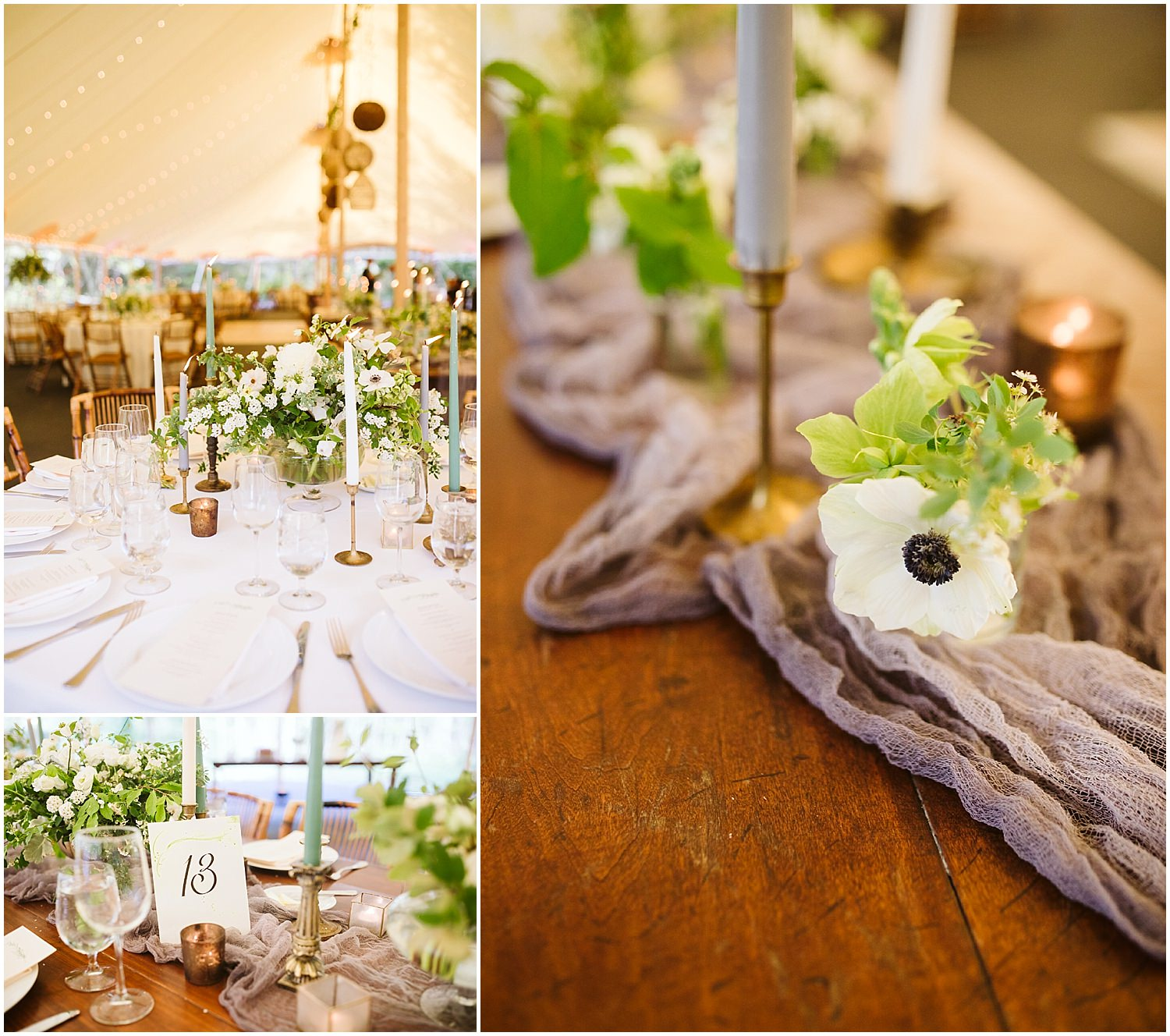 reception tablescape at RT lodge
