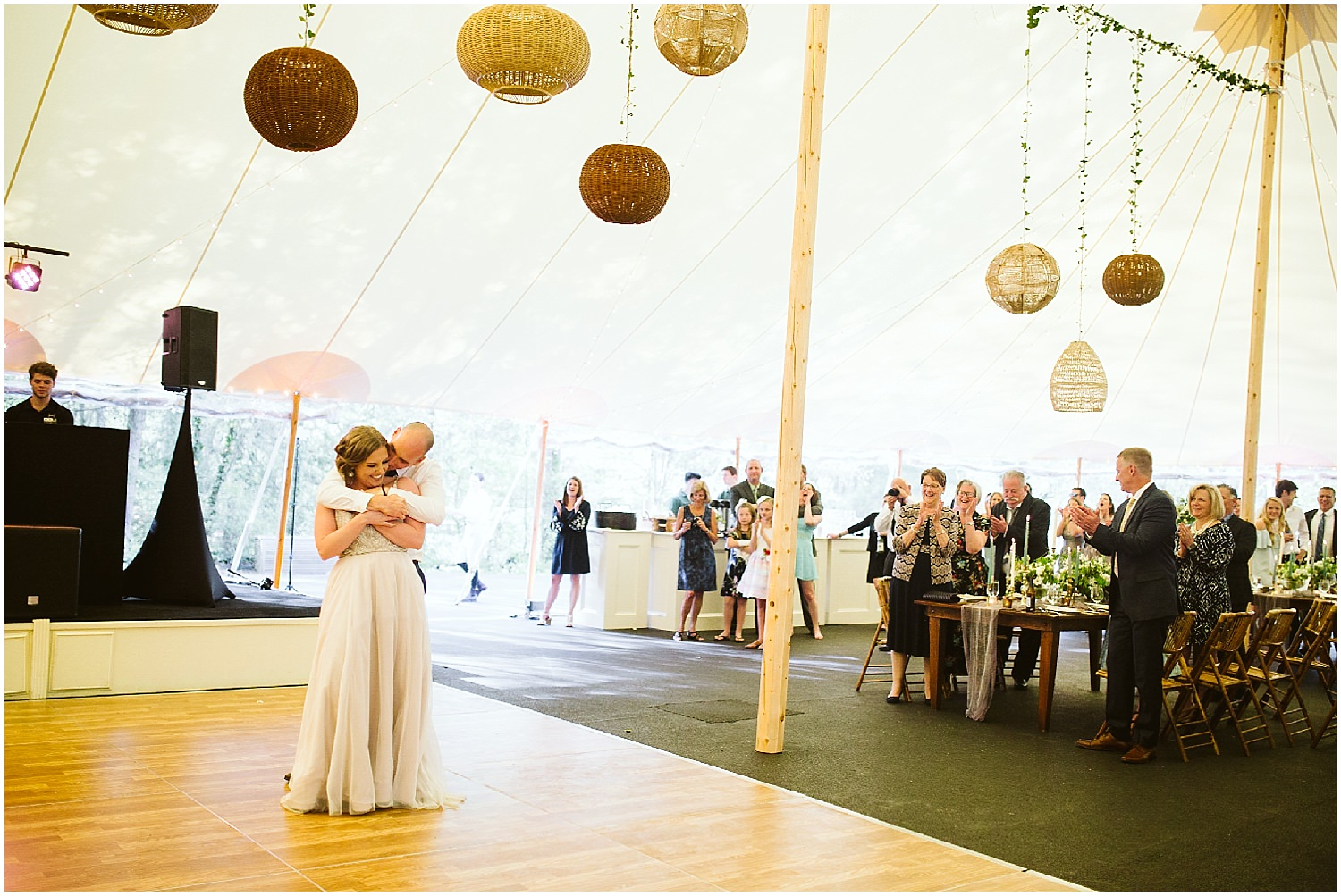 tented wedding reception at RT lodge
