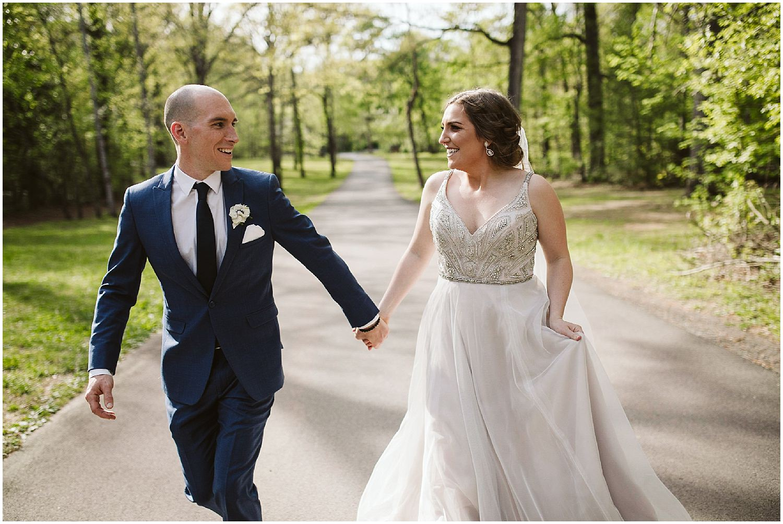 groom and bride spring RT lodge wedding