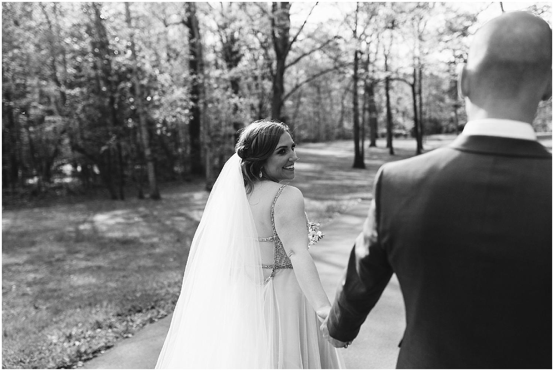 black and white photo of RT lodge wedding