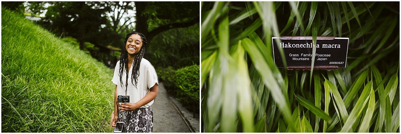 happy faces at brooklyn botanic garden