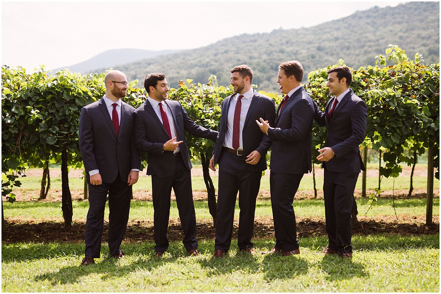groomsmen at debarge winery wedding
