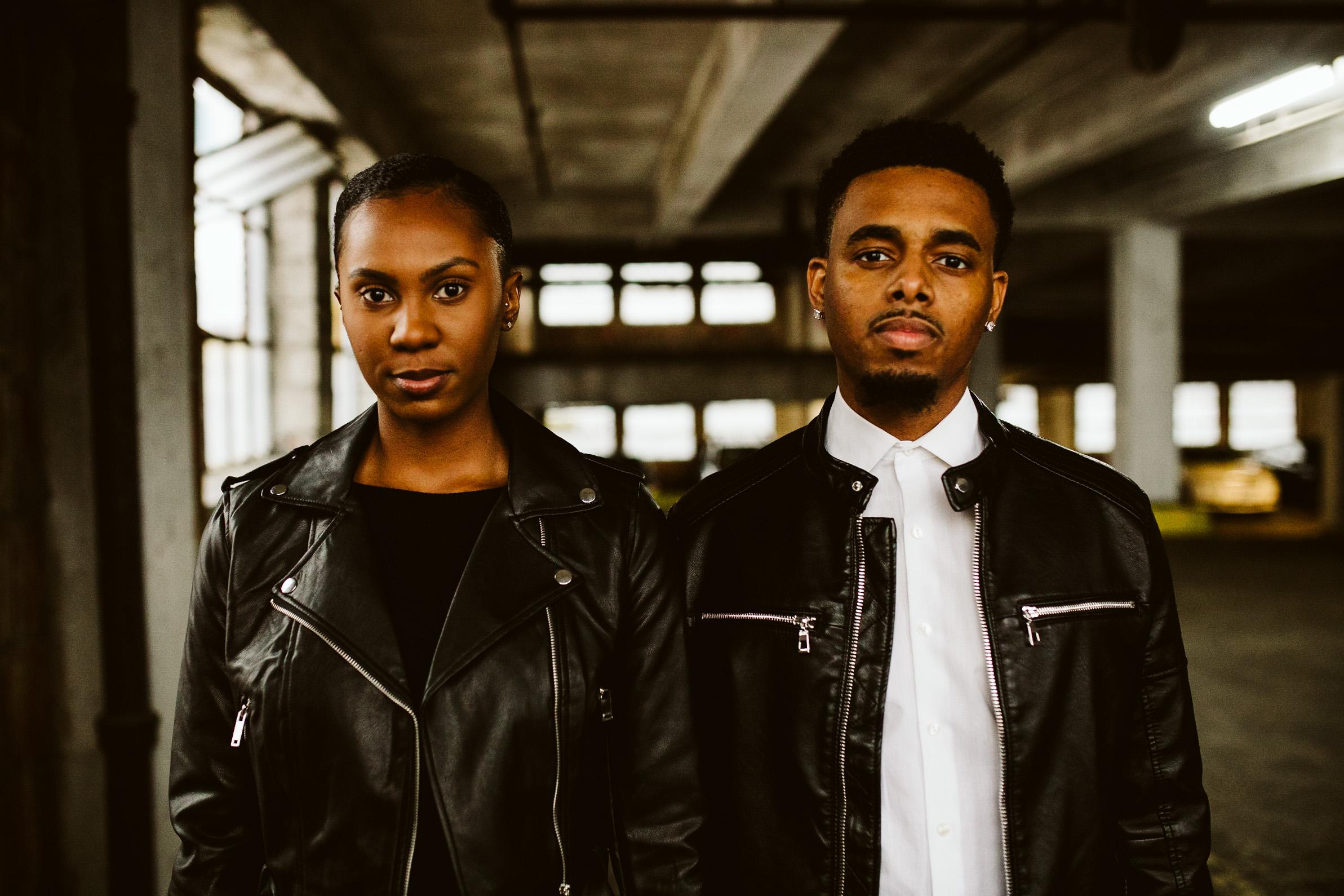 black couple atlanta engagement shoot