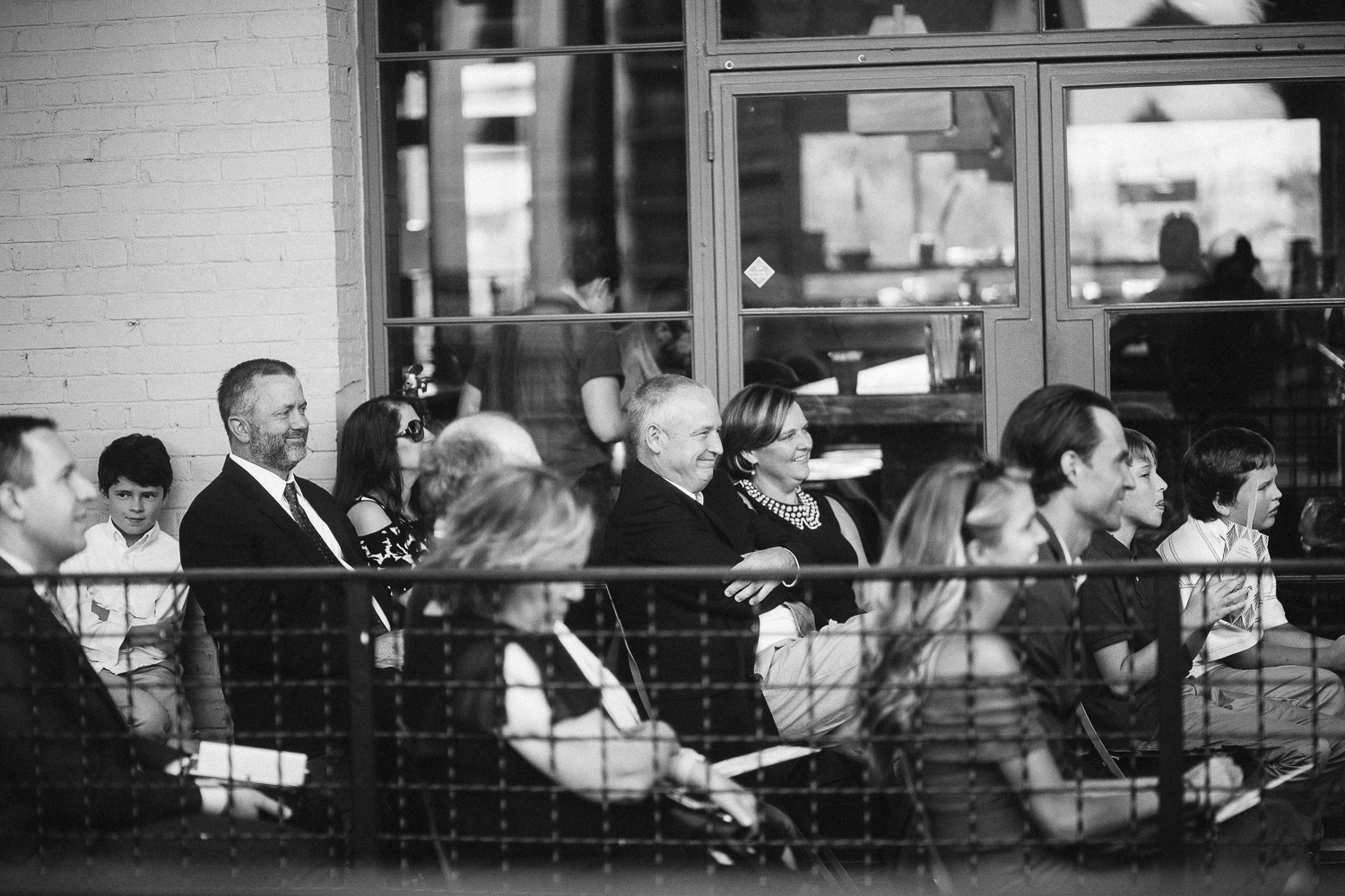 black and white photography at JCT kitchen and bar wedding