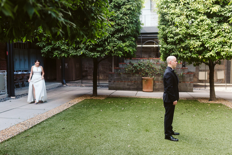 first look at JCT kitchen wedding