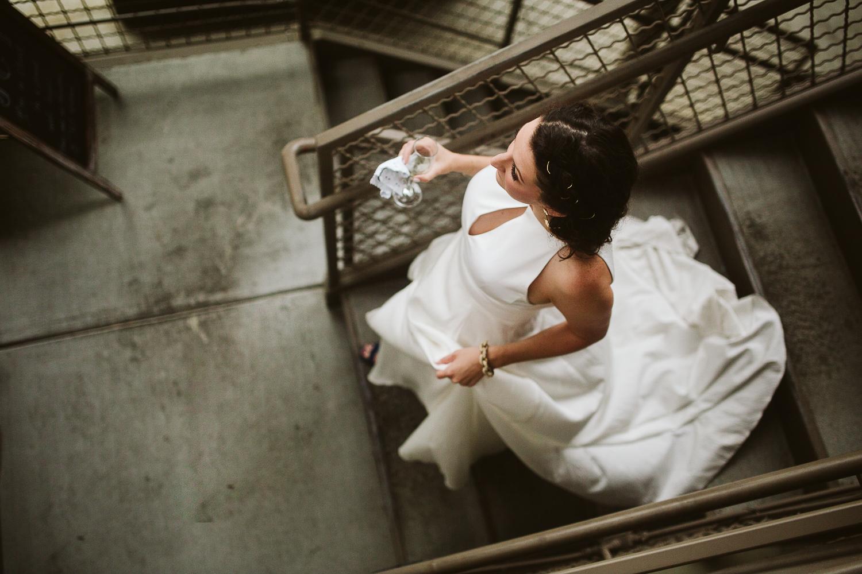 bride wearing the sentimentalist wedding gown
