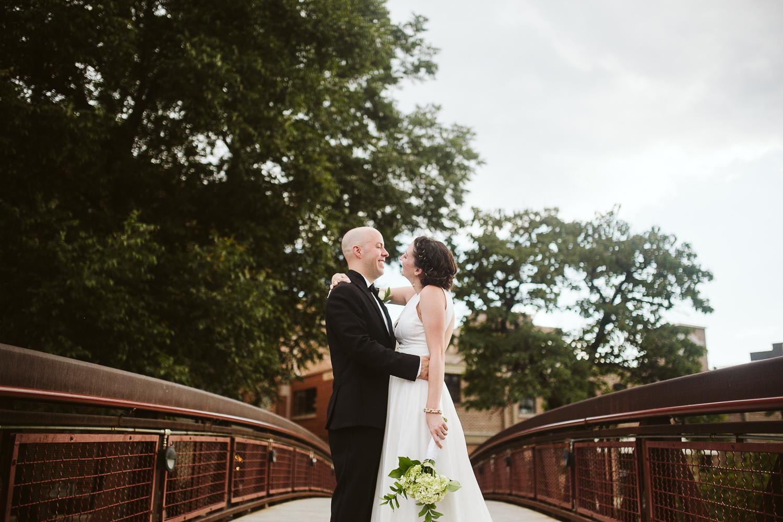 bride and groom at westside provisions atlanta