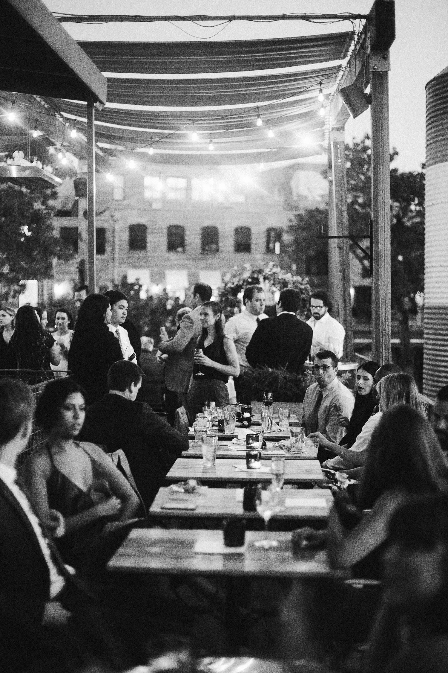 black and white wedding at JCT kitchen and bar