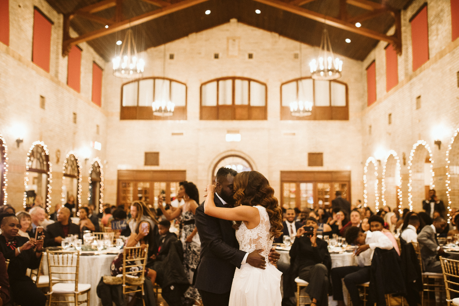 couple's first dance at st francis hall washington dc wedding venue