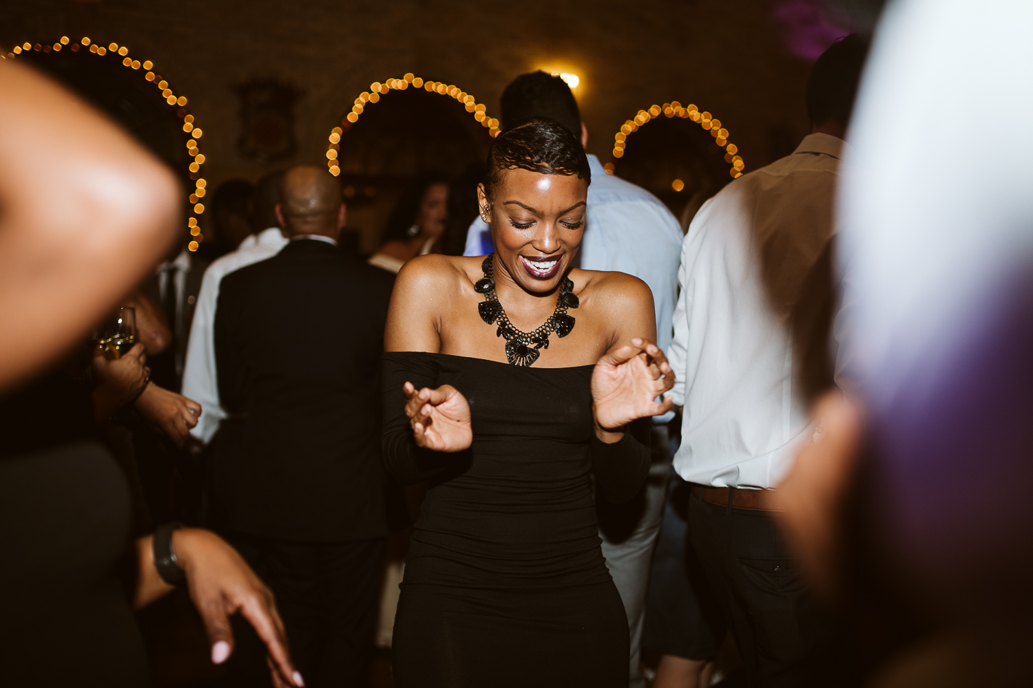 guest dancing at st francis hall by washington dc wedding photographer kiyah c photography