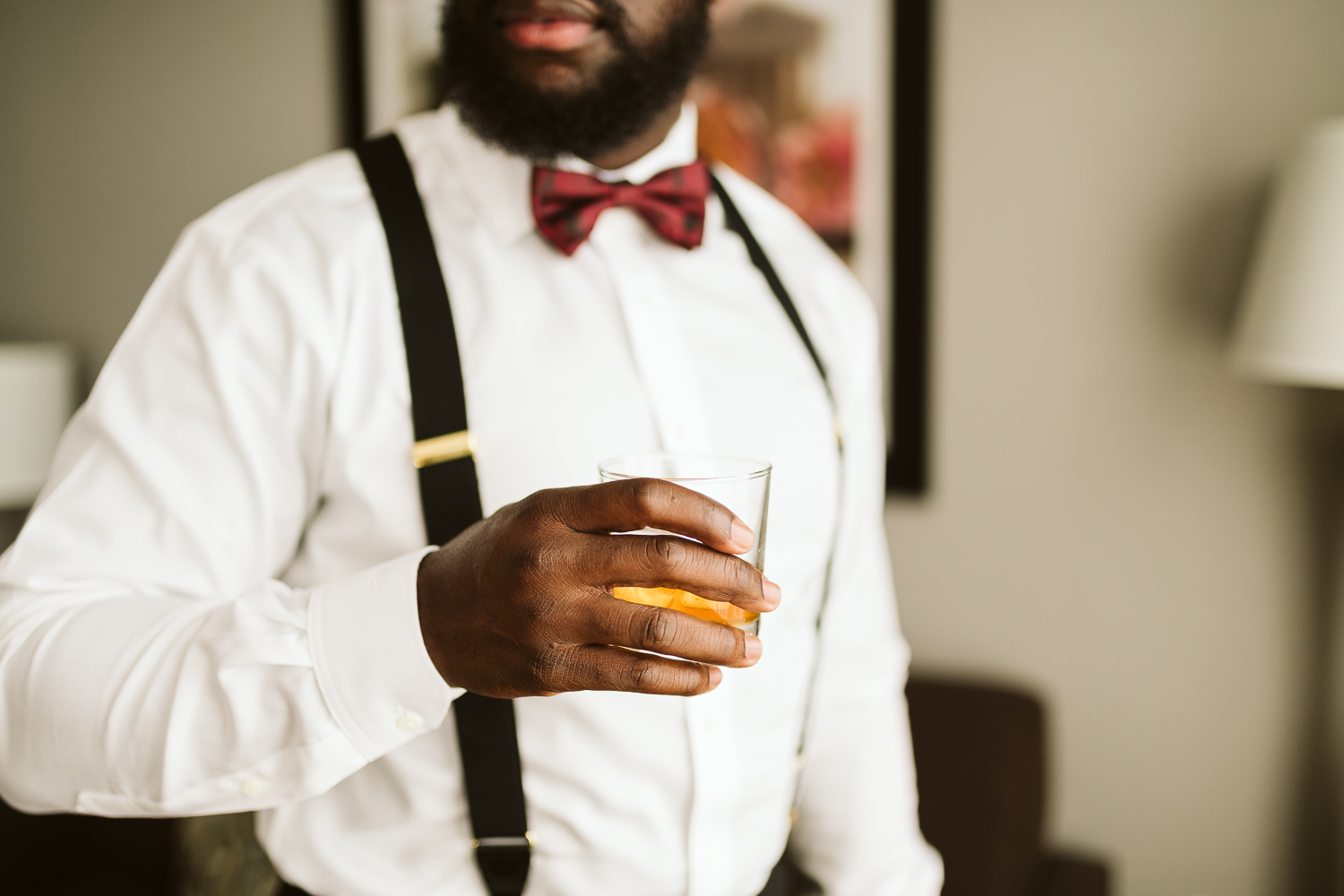 groom getting ready for dc wedding