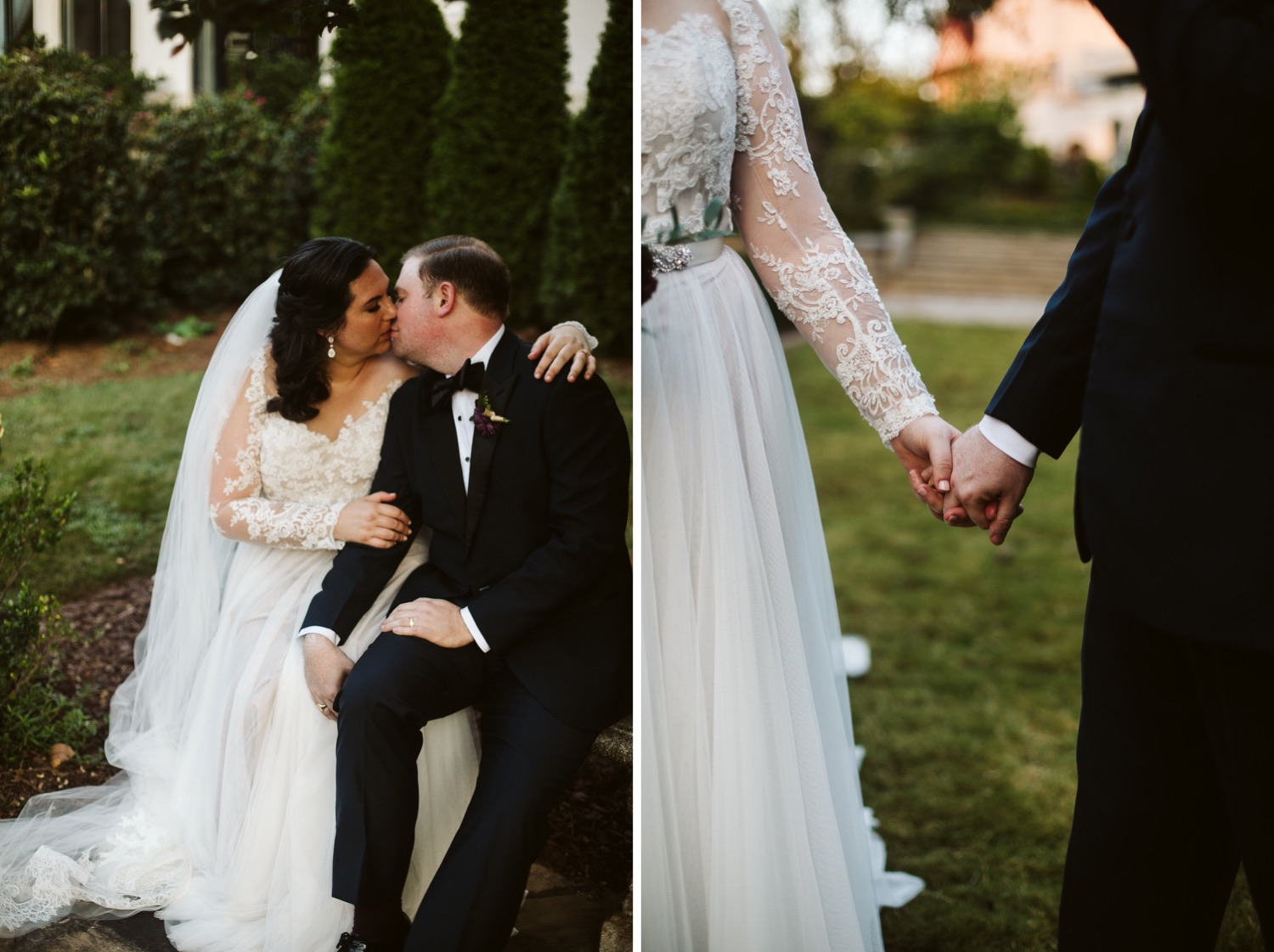 lacy sleeved wedding dress