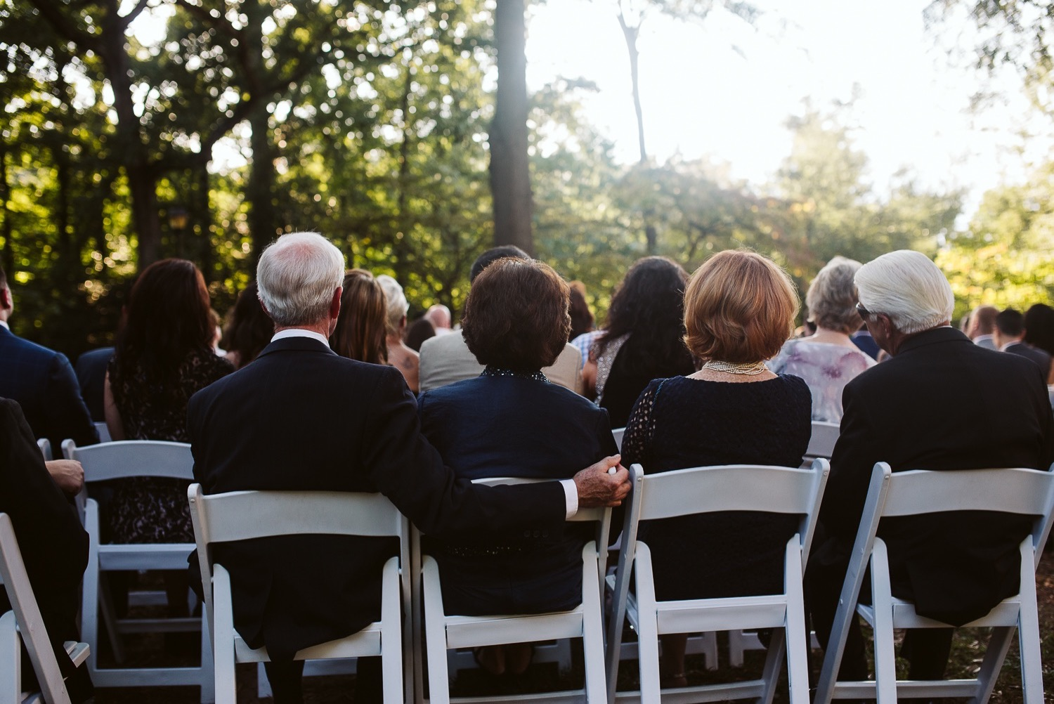 guests at callanwolde fine arts center wedding ceremony