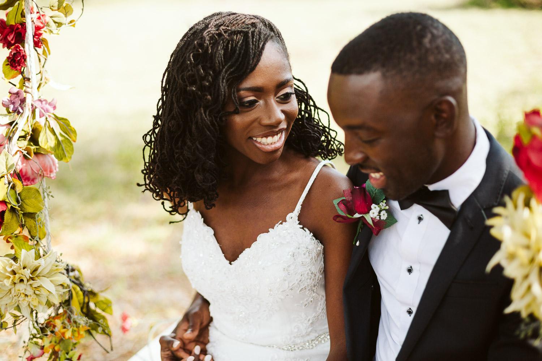 black bride with sister locs