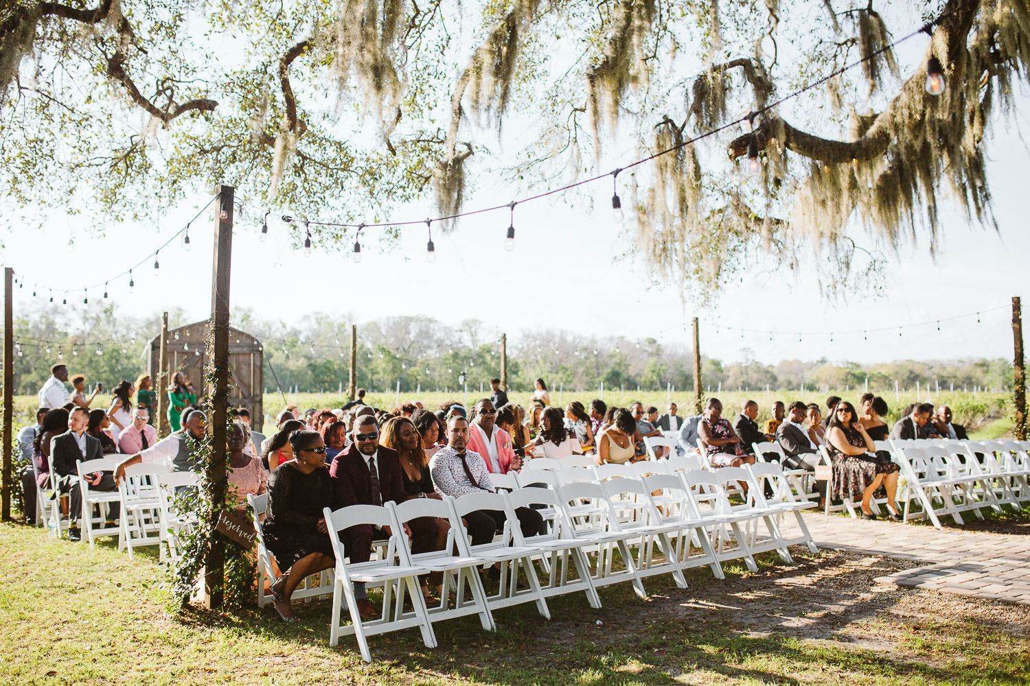 ceremony space at ever after farms wedding venue