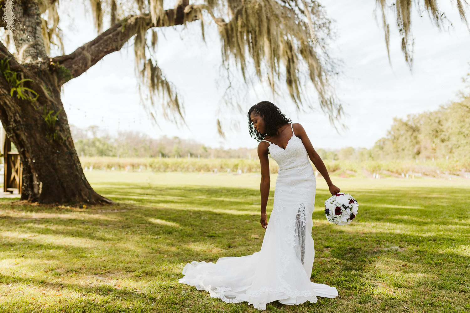 florida bride at ever after farms