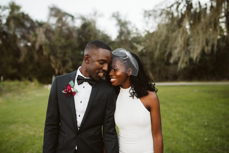 black bride and groom at jacksonville florida wedding