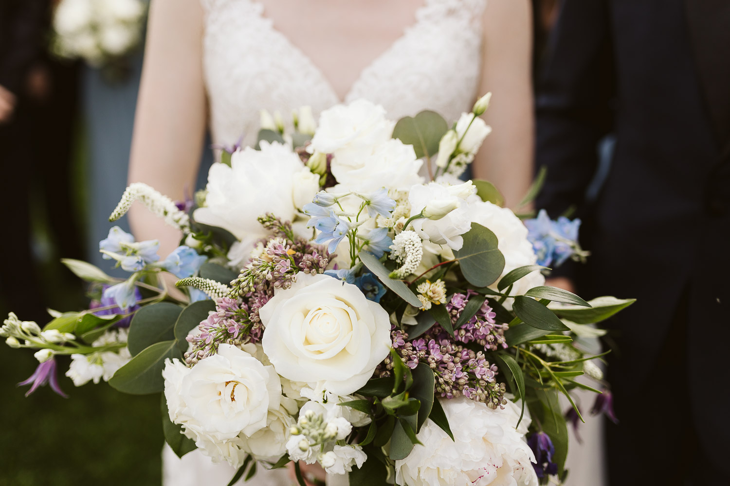 colorful spring wedding bouquet