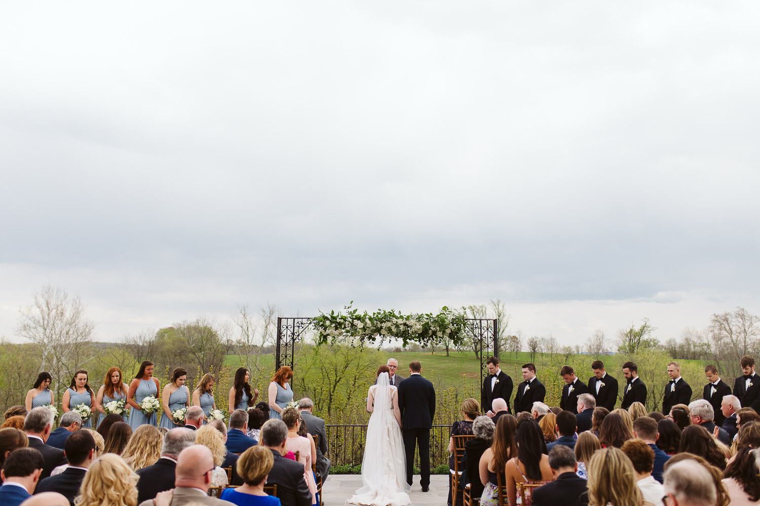 outdoor spring ceremony at shadow creek