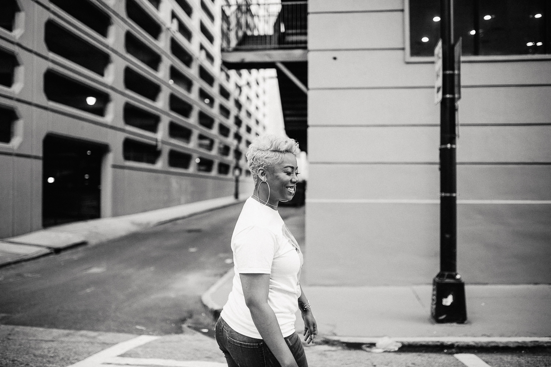 black and white photography downtown atlanta