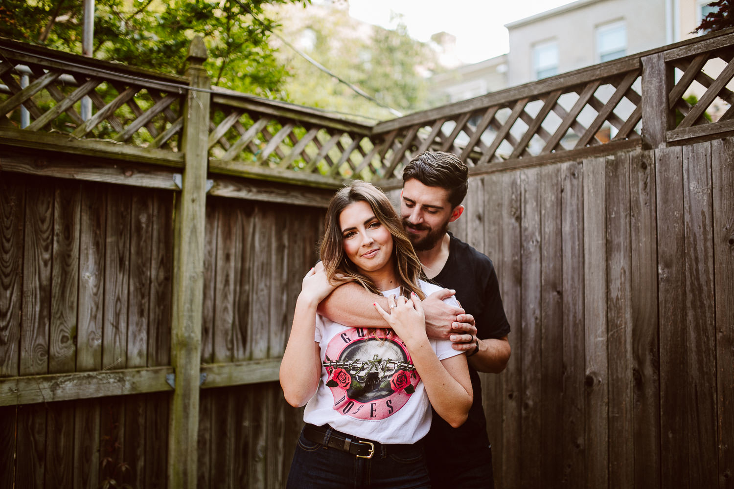 washington dc engagement shoot in blagden alley