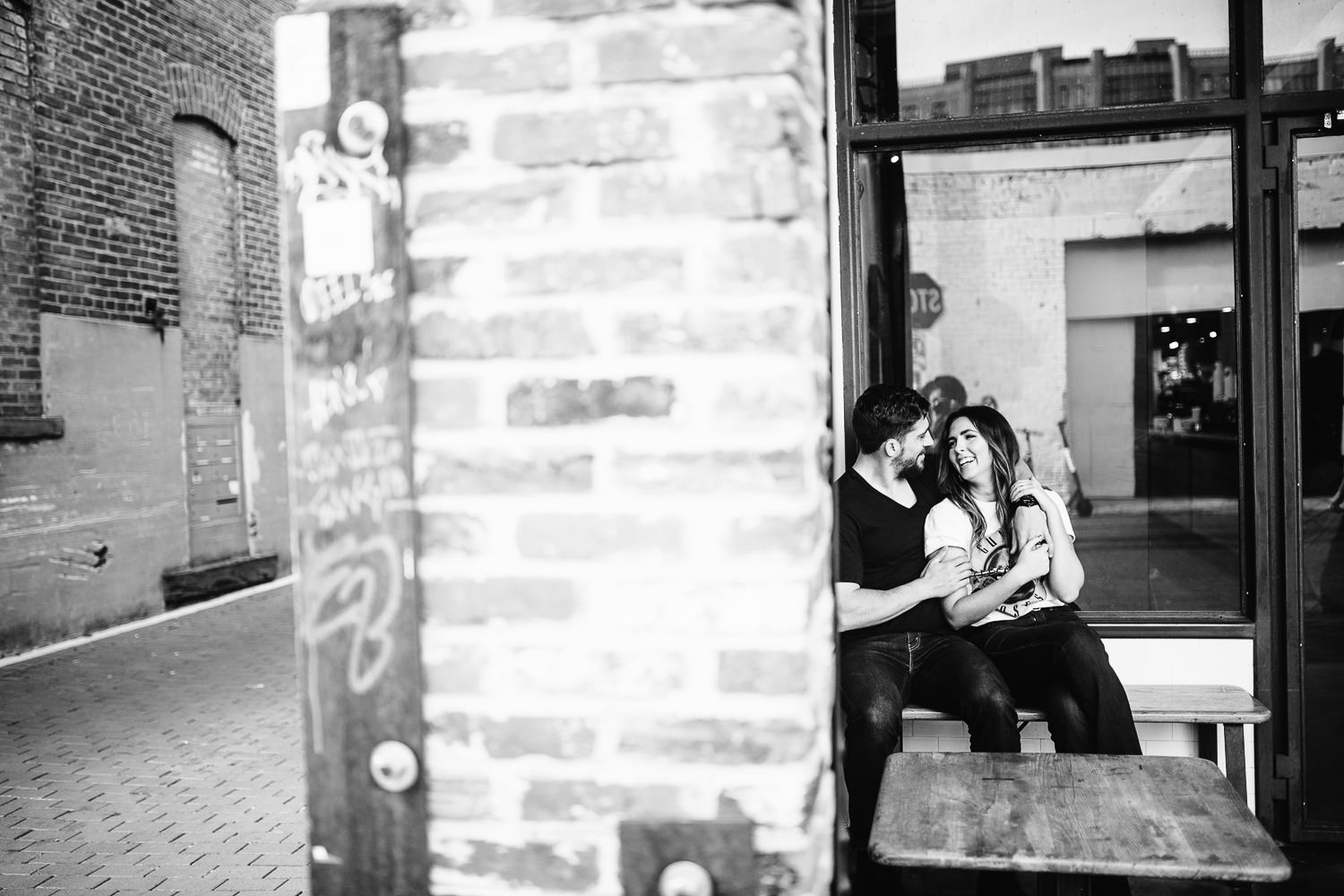 le colombe engagement shoot in dc