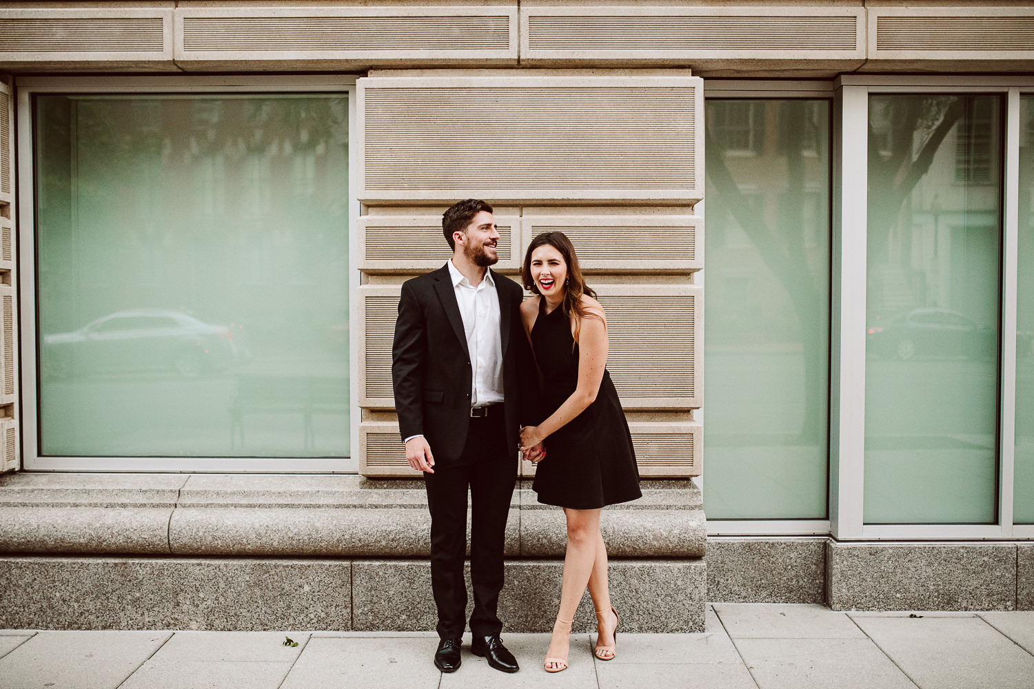 classy engagement photos in washington dc