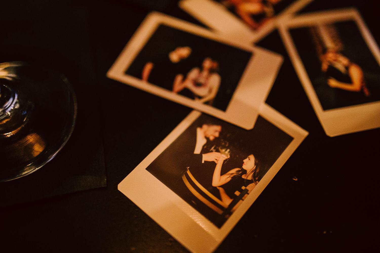 polaroid engagement shoot
