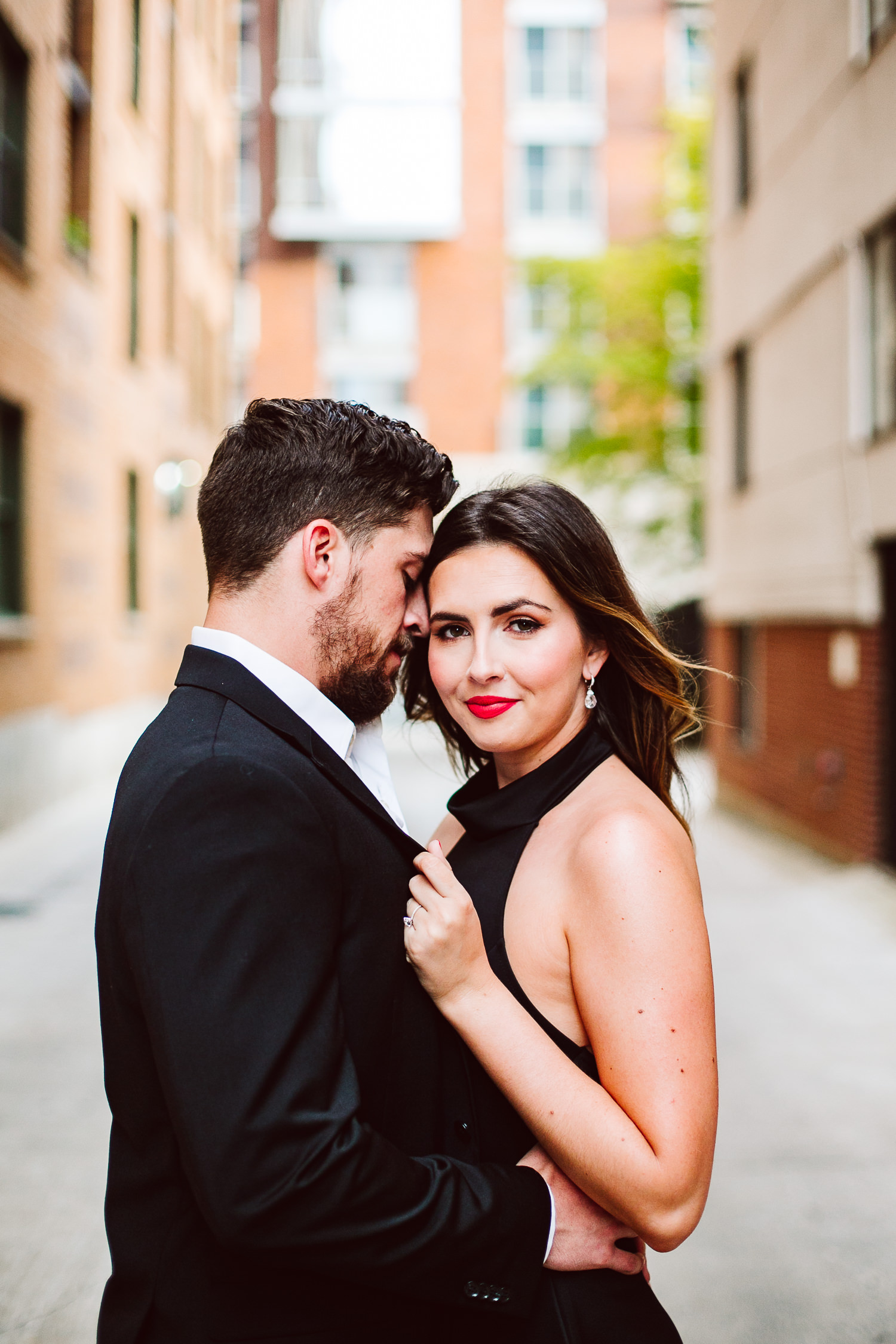 red lipstick to wear for engagement photos