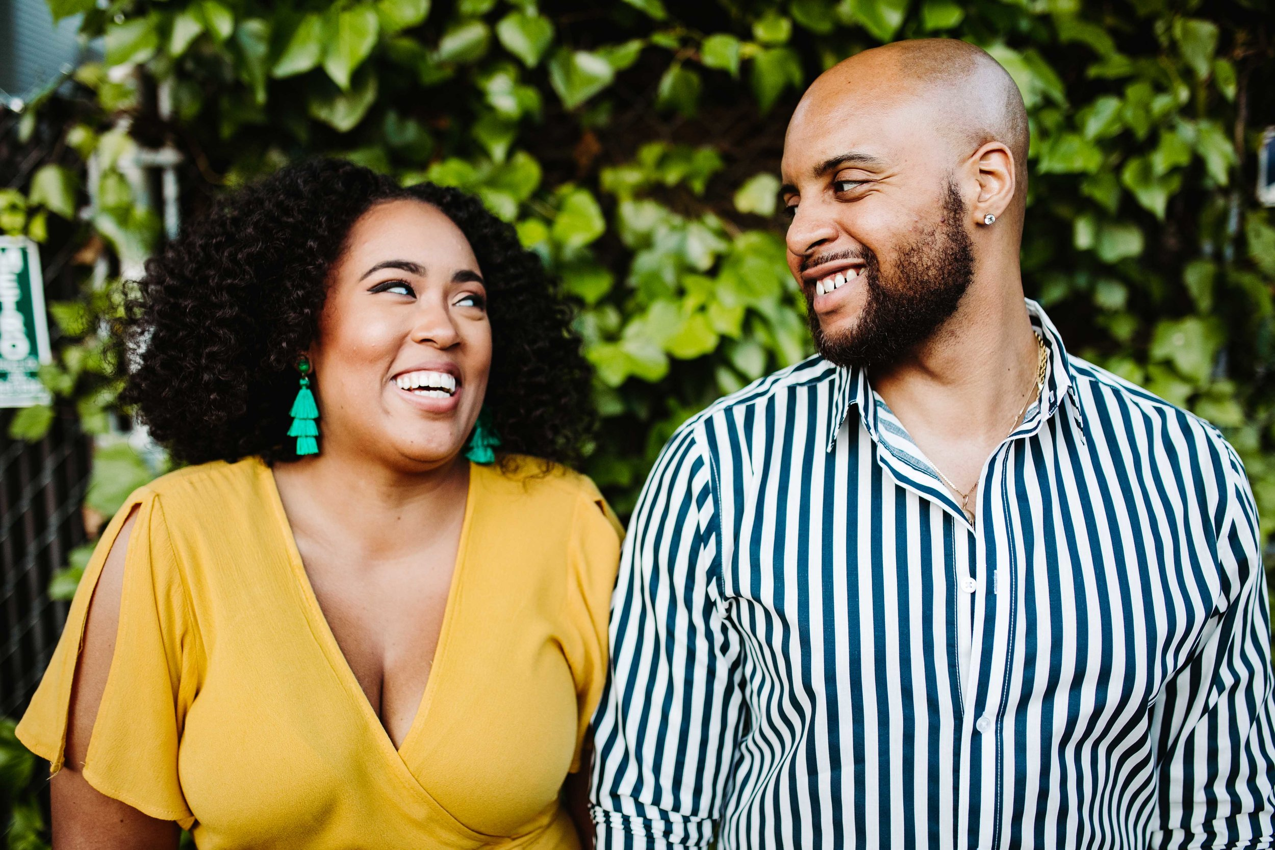 black couple engagement shoot