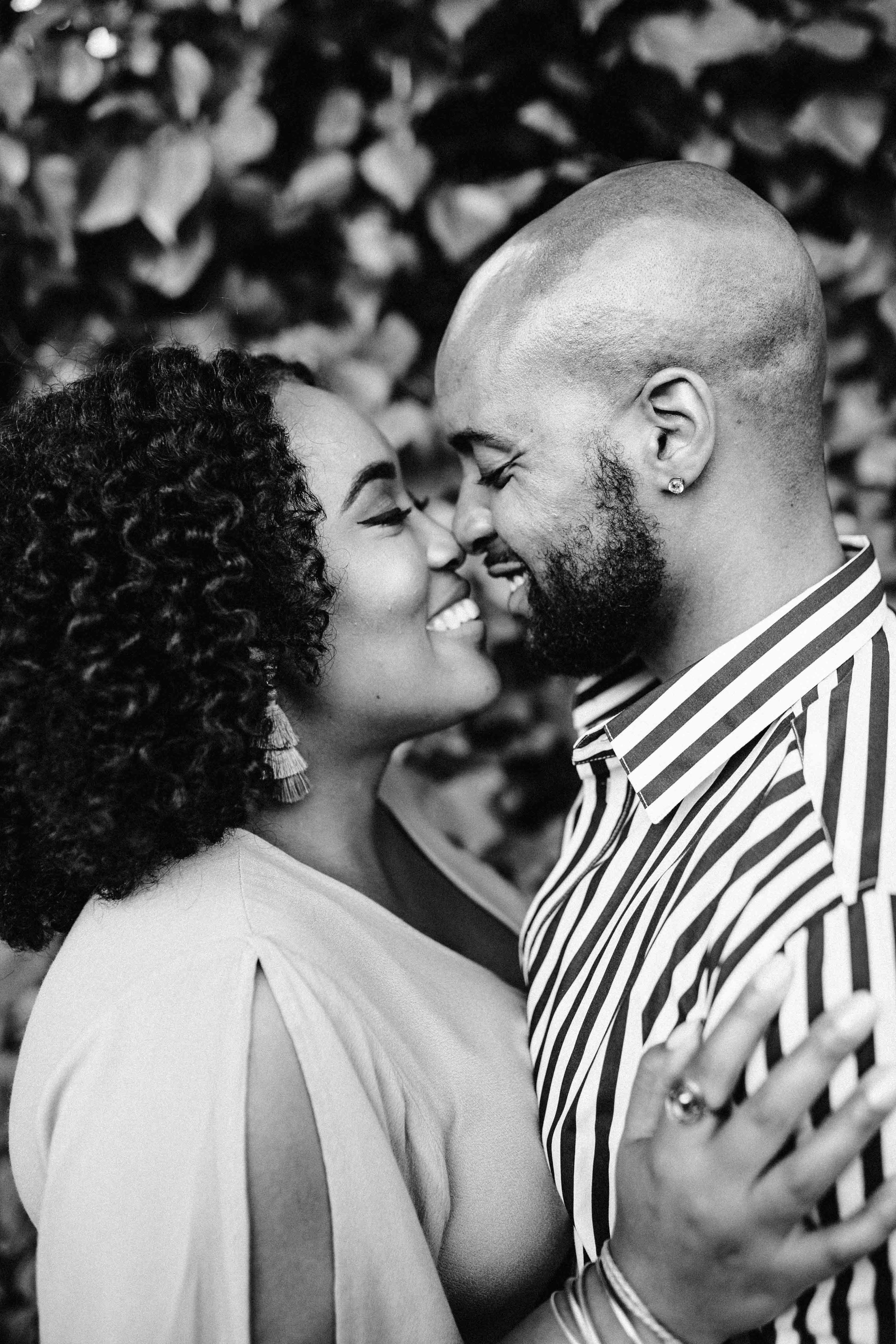 natural hair couple engagement session