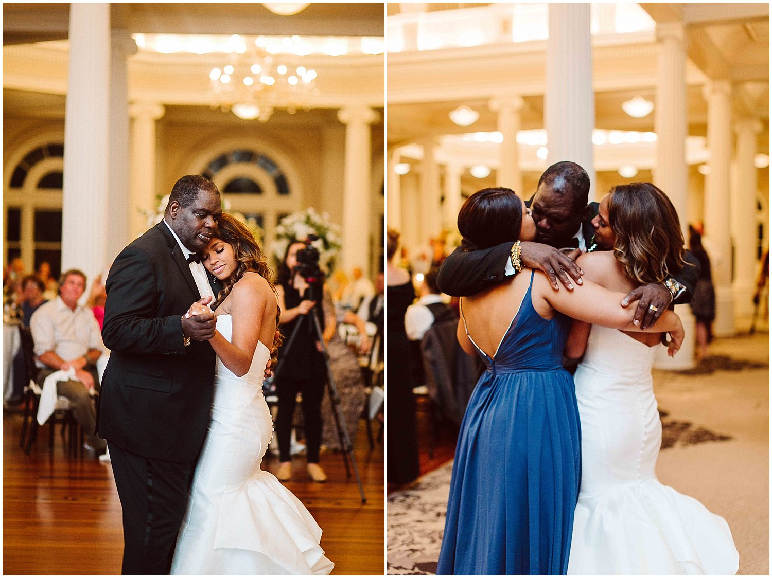 father daughter wedding dance at omni homestead