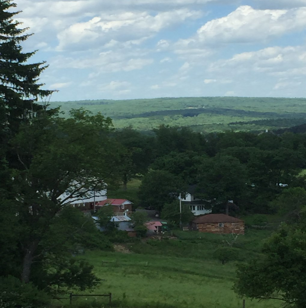 A view of Sugar Hill Farm PA from the hill