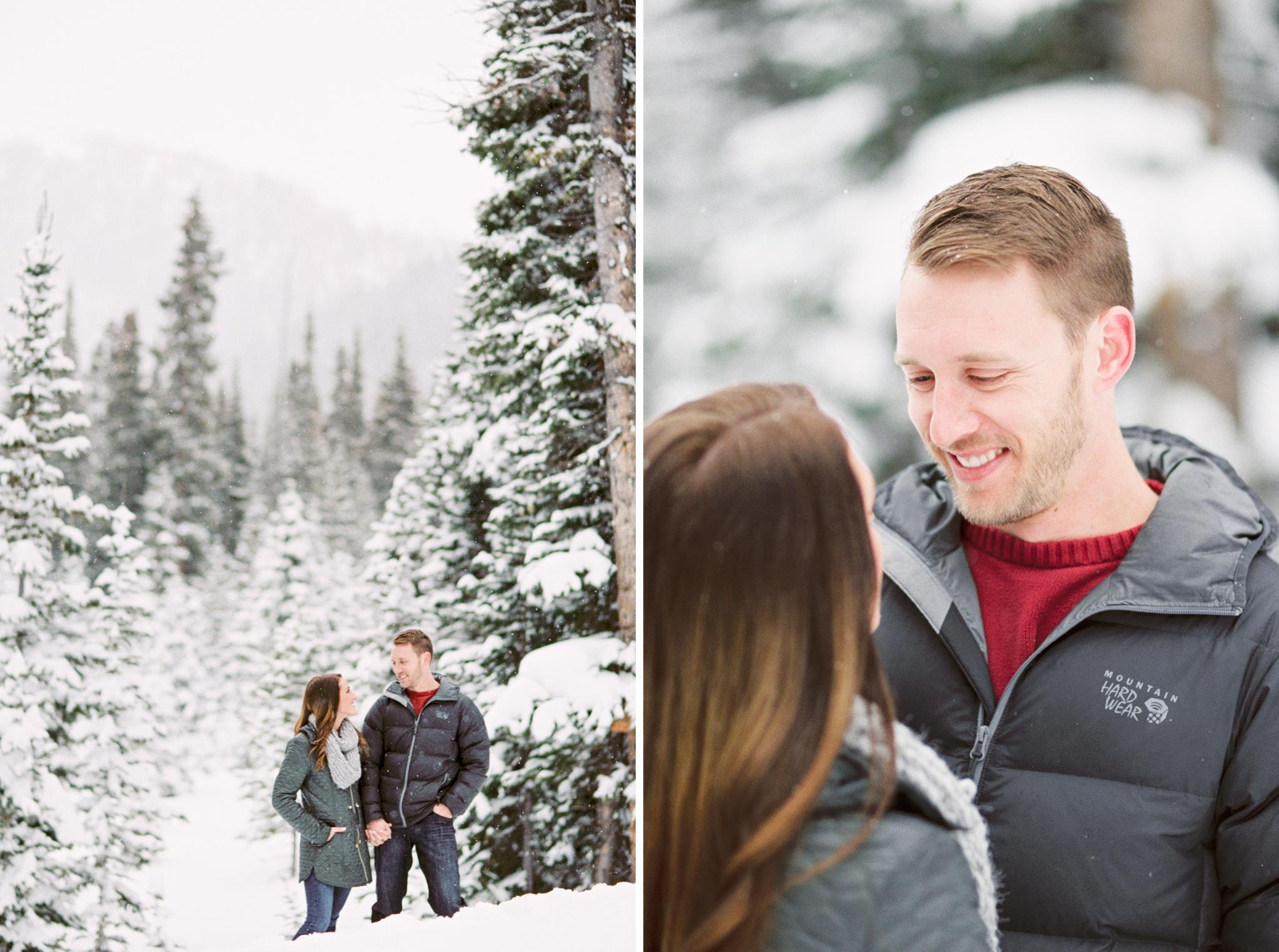 Jones Pass Winter Engagement Photographer