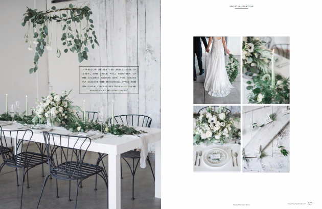 Rocky Mountain Bride Regional Magazine - Winter Wedding
