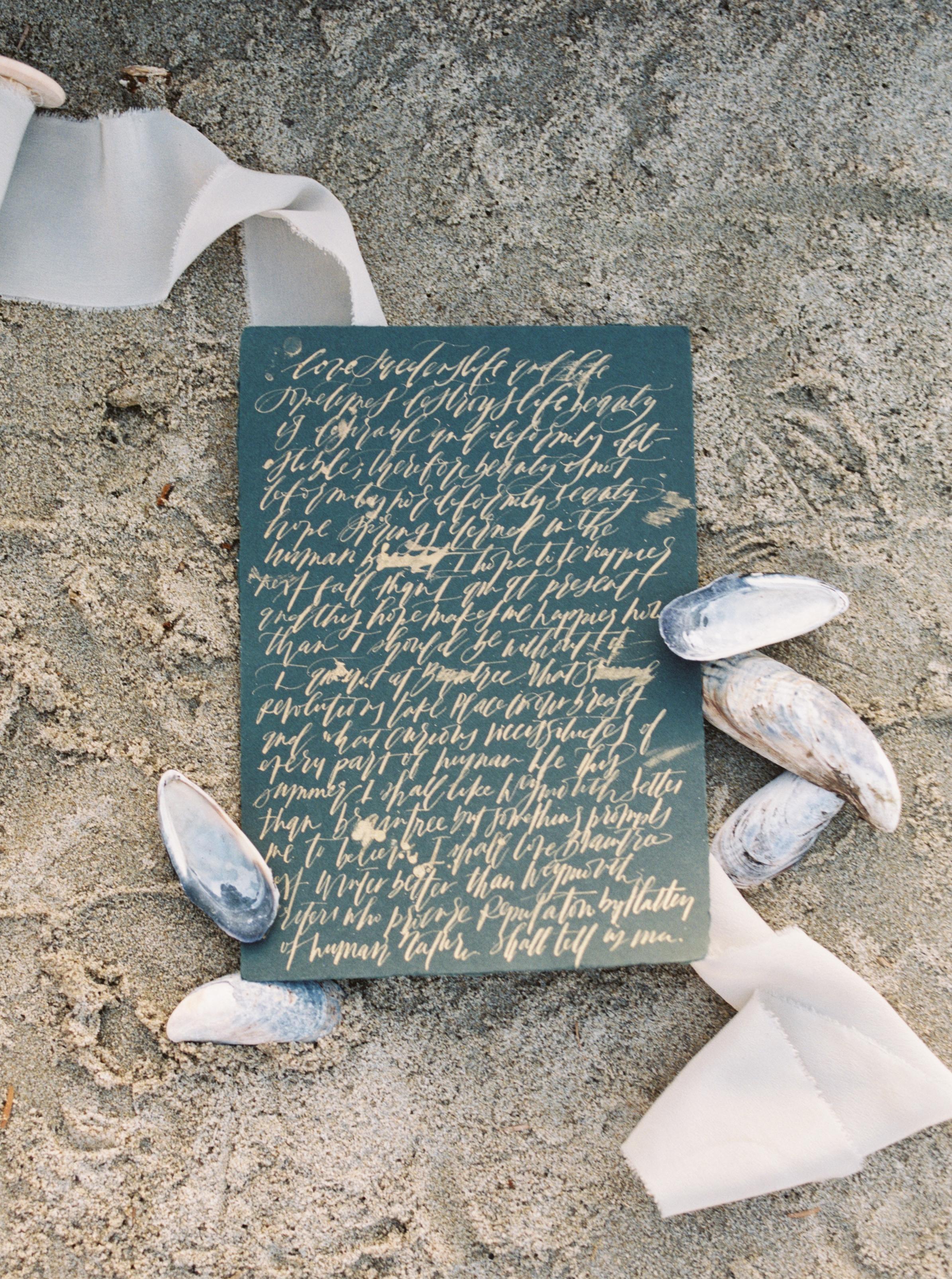 Oregon Coast Wedding with Kelsey Malie Calligraphy
