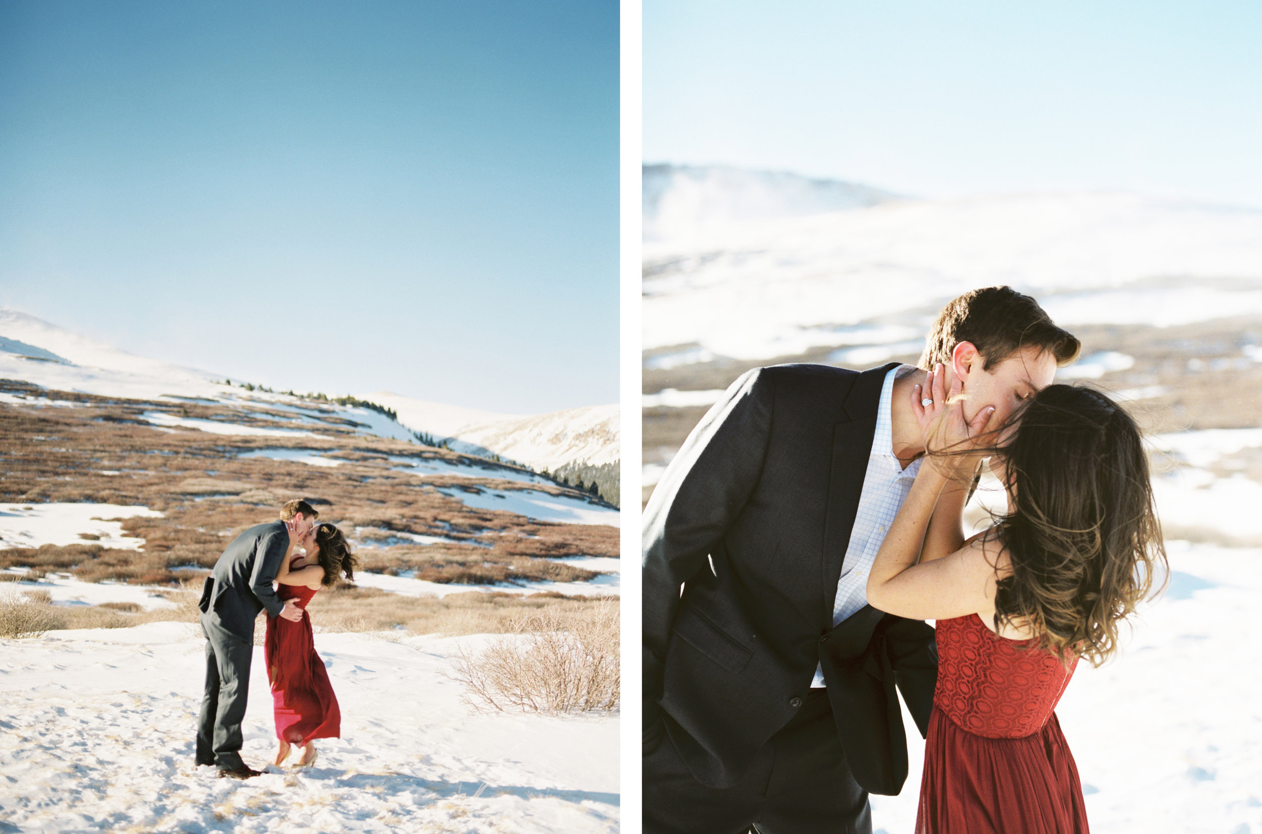 Mountain Top Winter Engagement Session