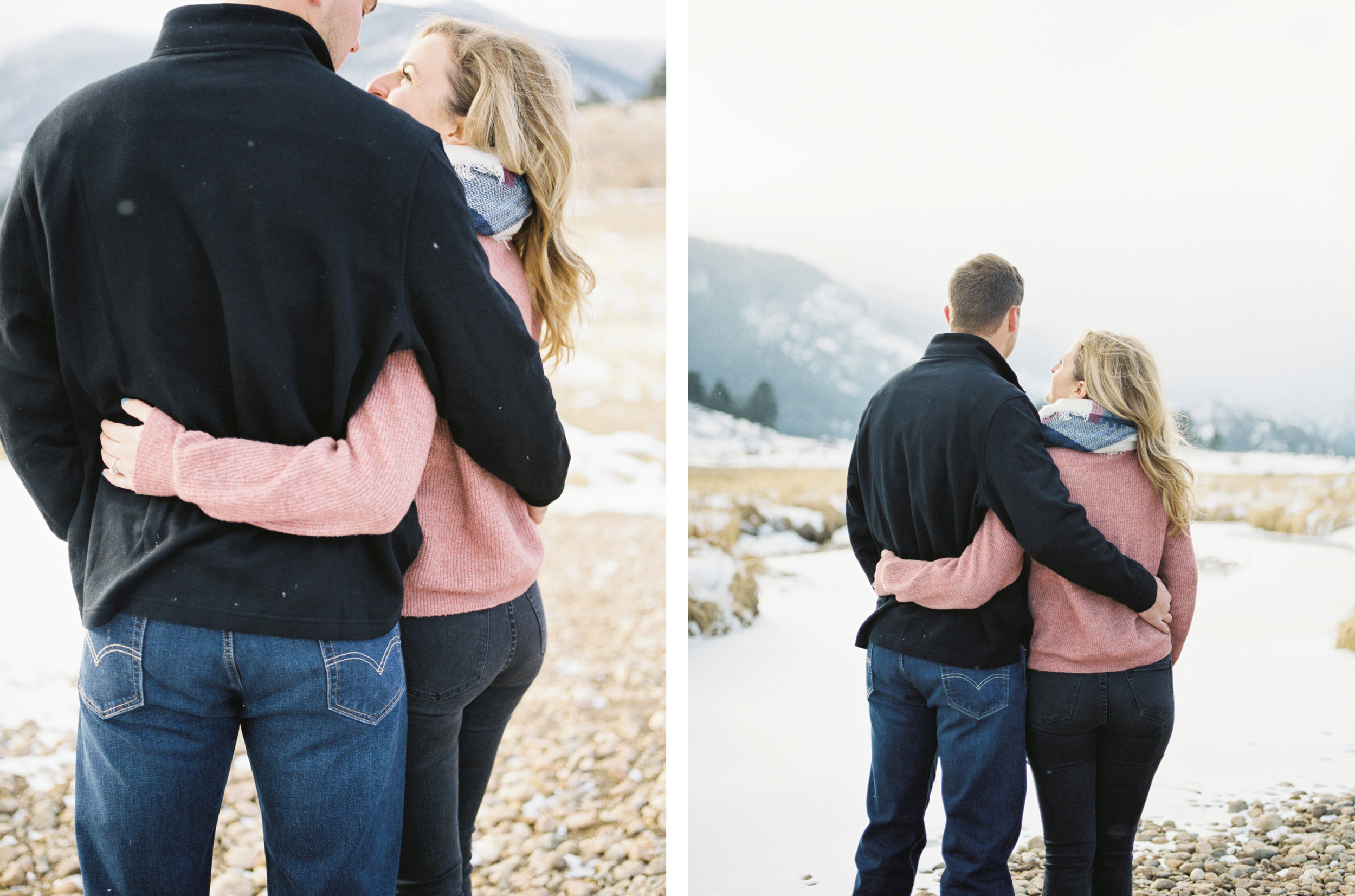 Colorado Winter Engagement Session - Fine Art Film Photographer Tara Bielecki Photography
