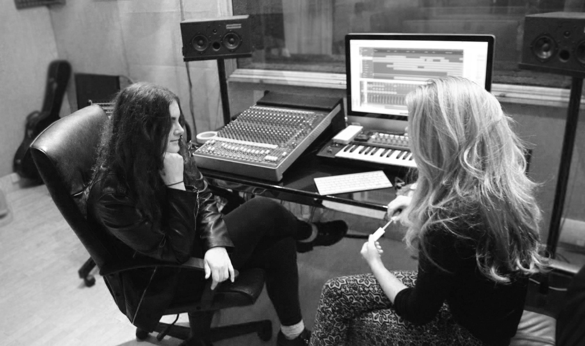 Alex Mullins & Lauren Deakin Davies at The Cream Room Sound Productions recording 'Lets Pretend' EP