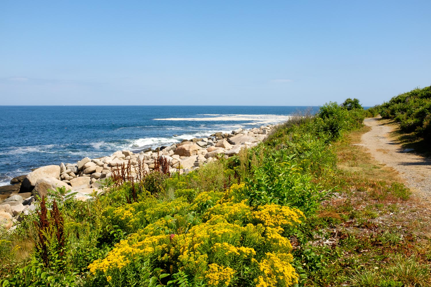 The Atlantic Path from Rockport to Halibut Point State Park, Massachusetts.