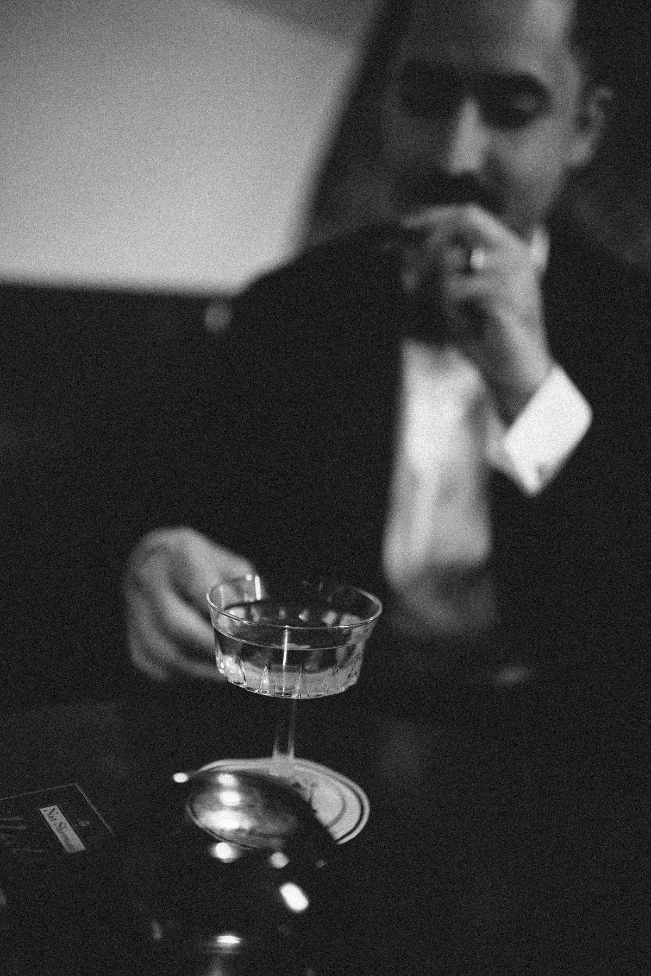 ford mixology lab flatiron lounge black and white rat pack inspired new york city chellise michael photography mark iii meet the michaels tanquere congac