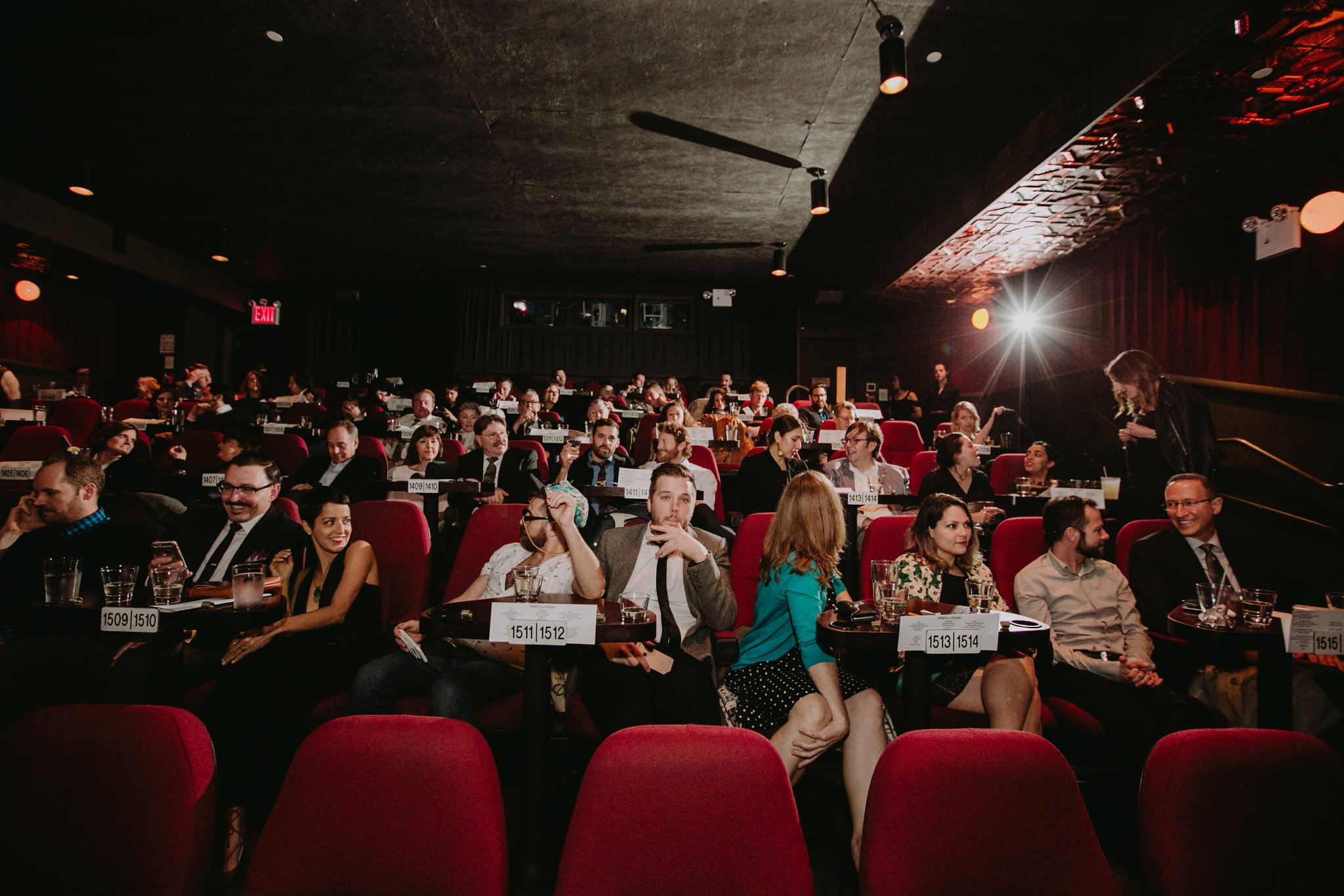 Nitehawk Cinema Wedding Brooklyn Chellise Michael