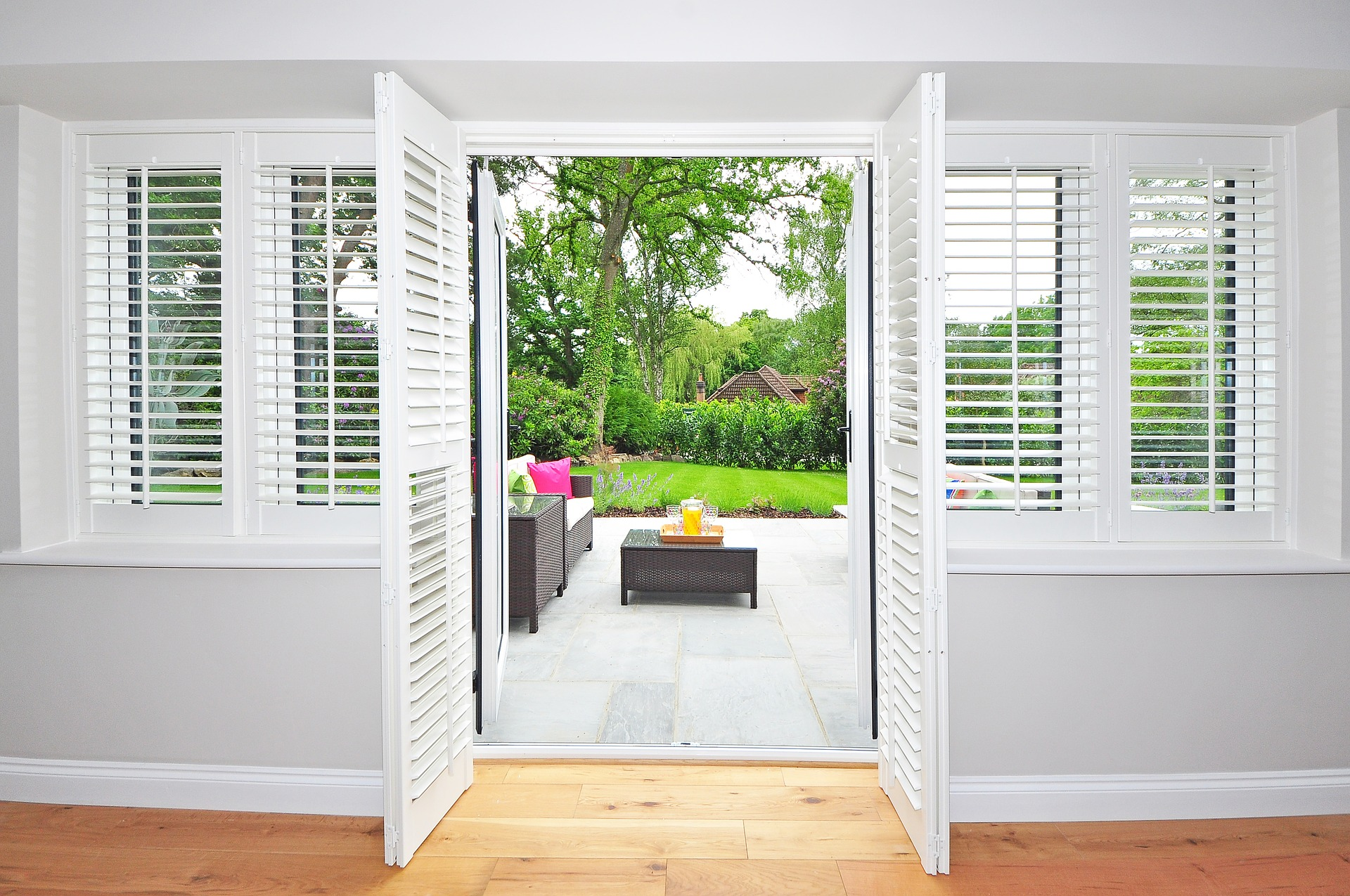 Sleek Design - Plantation shutters provide a smooth and flawless finishing touch.  A versatile design makes them a perfect choice for any space.  Whether you want the louvers open just a crack to let some light seep in, or you want to open the whole shutter, you can't go wrong with the flawless design