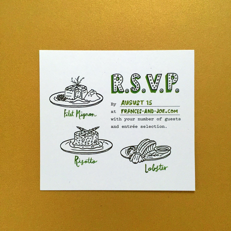The R.S.V.P. card.
